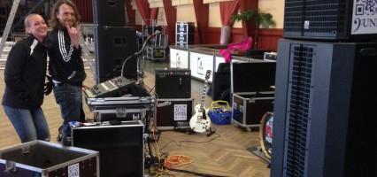 Soundcheck mit neuer PA-Anlage
